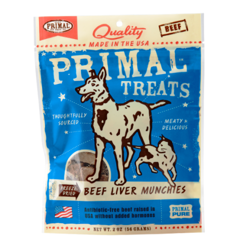 Primal Freeze-Dried Beef Liver Munchies Dog Treats - 2.0 oz