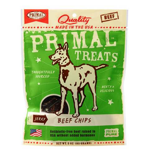 Primal Freeze-Dried Beef Chips Dog Treats - 3.0 oz