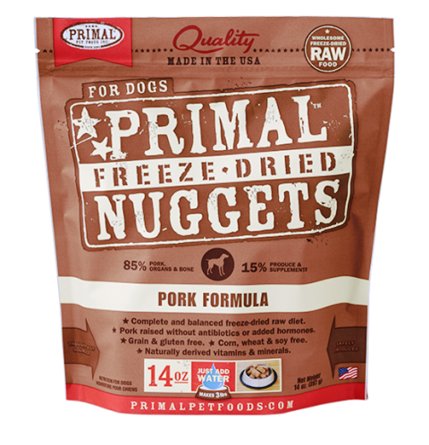 Primal Freeze Dried Nuggets Pork Formula Dog Food