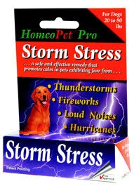 HomeoPet Storm Stress for Dogs up to 20 lbs - Safe, Gentle, 100% Natural