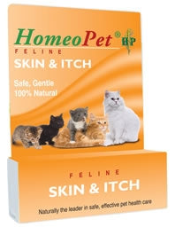 HomeoPet Skin & Itch - FELINE - Safe, Gentle, 100% Natural