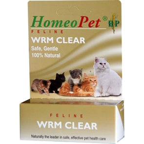 HomeoPet FELINE WRM Clear - Safe, Gentle, 100% Natural
