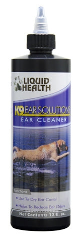 Liquid Health K9 Ear Solutions - Ear Cleaner - 12 fl oz