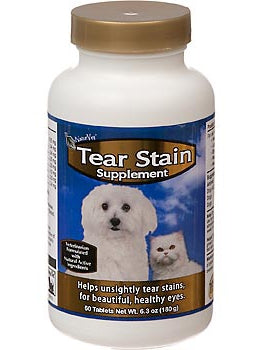 NaturVet Tear Stain Supplement for Dogs & Cats - 180 g / 60 Tablets