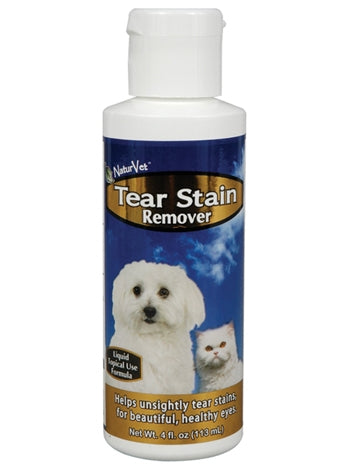 NaturVet Tear Stain Rmover for Dogs & Cats - 4 fl oz