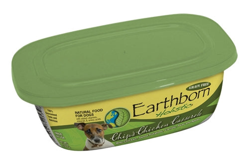 Earthborn Holistic Chip's Chicken Casserole Dog Food - 9 oz. resealable tub