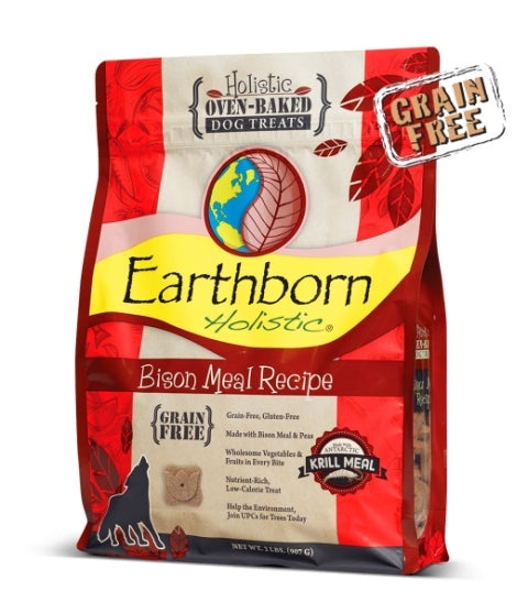 Earthborn Holistic Oven Baked Grain Free Bison Dog Treats - 14 oz.