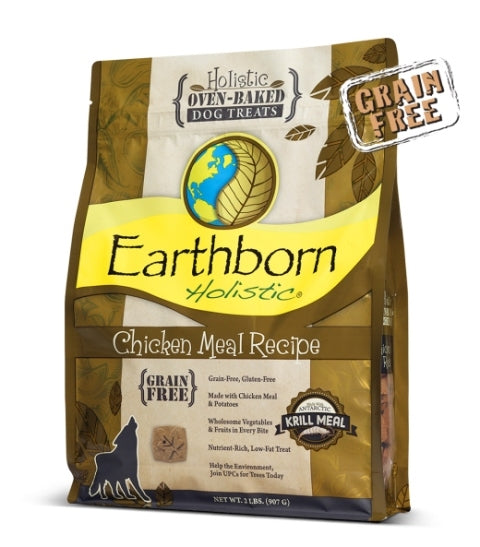 Earthborn Holistic Oven Baked Grain Free Chicken Dog Treats - 14 oz.