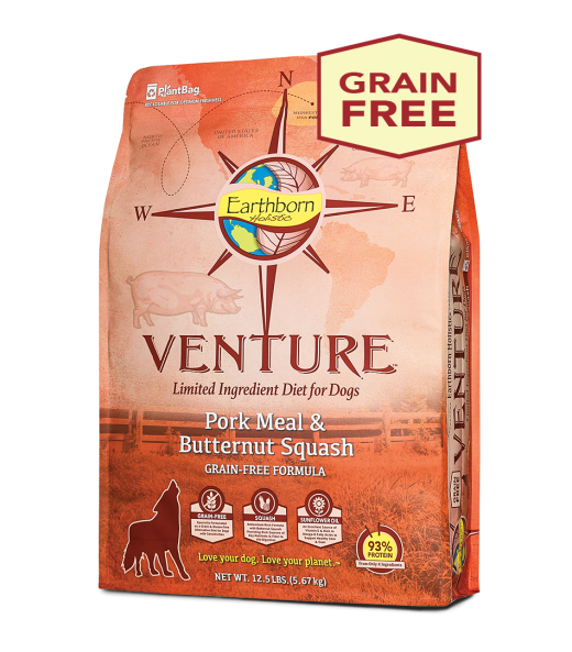 Earthborn Holistic Grain Free Venture Pork Meal & Butternut Squash LID Dog Food