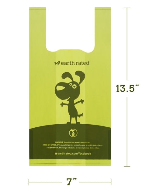 Earth Rated Poop Handle Bags Unscented  - 120 Bags