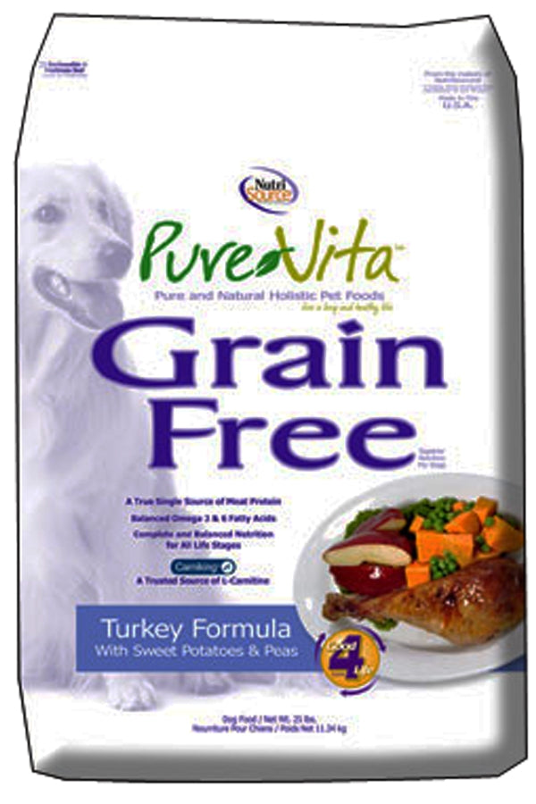 NutriSource Pure Vita Grain Free Turkey Formula Dog Food
