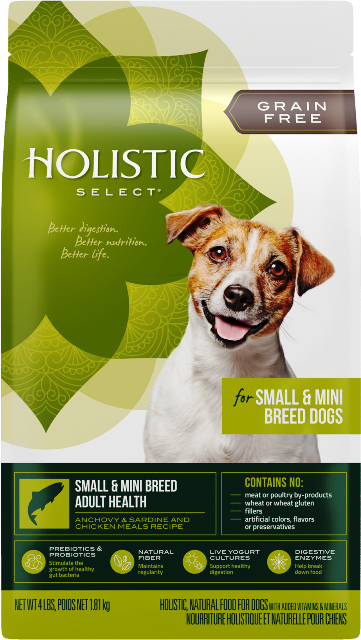 Holistic Select Grain Free Small & Mini Breed Adult Health Dog Food - 4 lbs.