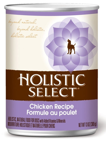 Holistic Select Grain Free Chicken Pate Recipe Dog Food - 13 oz