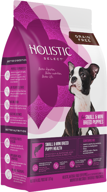 Holistic Select Small & Mini Breed Puppy Health Anchovy, Sardine and Chicken Food