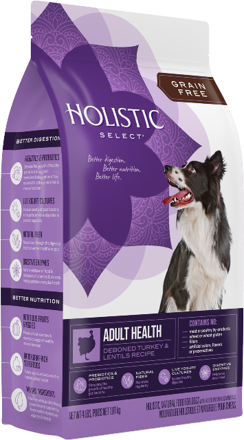 Holistic Select Adult Health Grain Free Turkey and Lentils Recipe Dog Food
