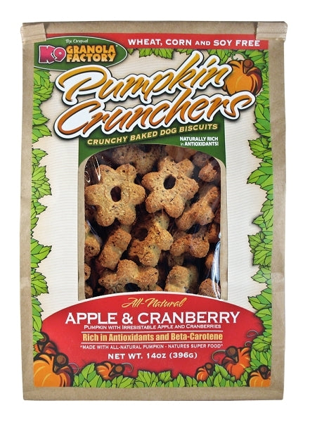 K9 Granola Factory Pumpkin Crunchers Apple & Cranberry Dog Treats - 14 oz.