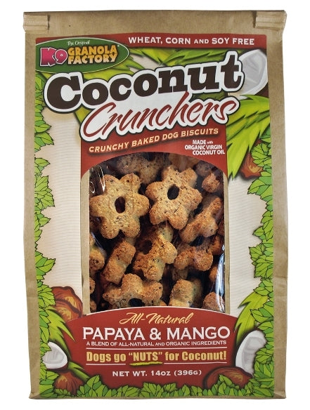 K9 Granola Factory Coconut Crunchers Papaya & Mango Dog Treats - 14 oz.