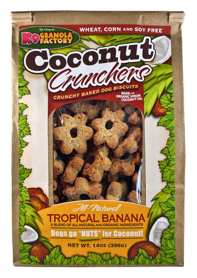 K9 Granola Factory Coconut Crunchers Tropical Banana Dog Treats - 14 oz.