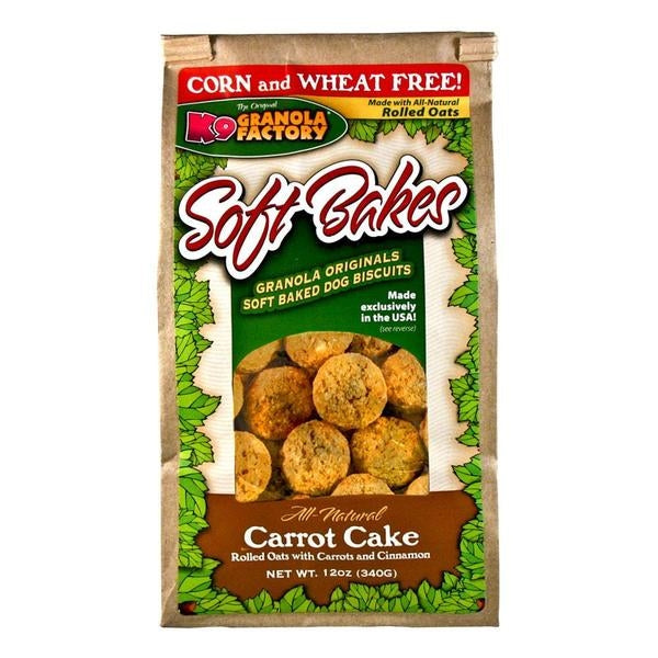 K9 Granola Factory Soft Bakes Carrot Cake Dog Treats - 12 oz.