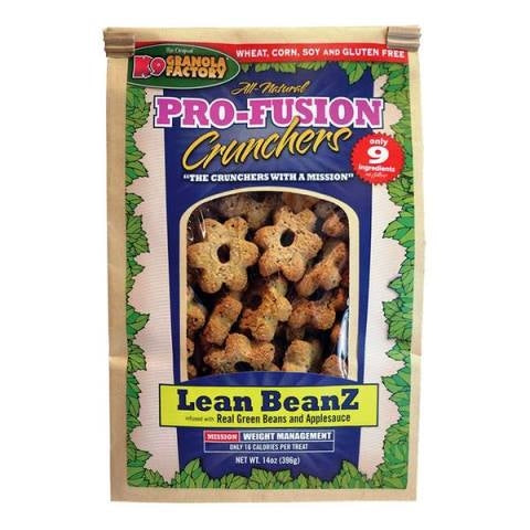 K9 Granola Factory Pro-Fusion Crunchers Lean Beanz Dog Treats- 14 oz.
