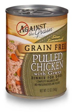 Against the Grain Pulled Chicken with Gravy Dinner for Dogs -12 oz.