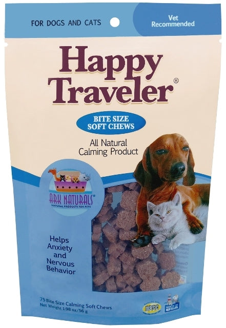 Ark Naturals Happy Traveler All Natural Calming Soft Chews for Dogs & Cats - 1.98 oz.