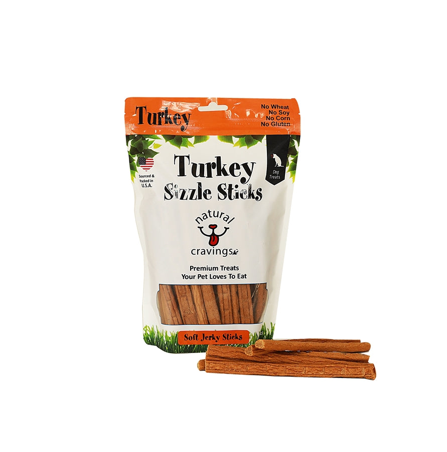 Natural Cravings Turkey Sizzle Sticks Dog Treat - 12 oz.