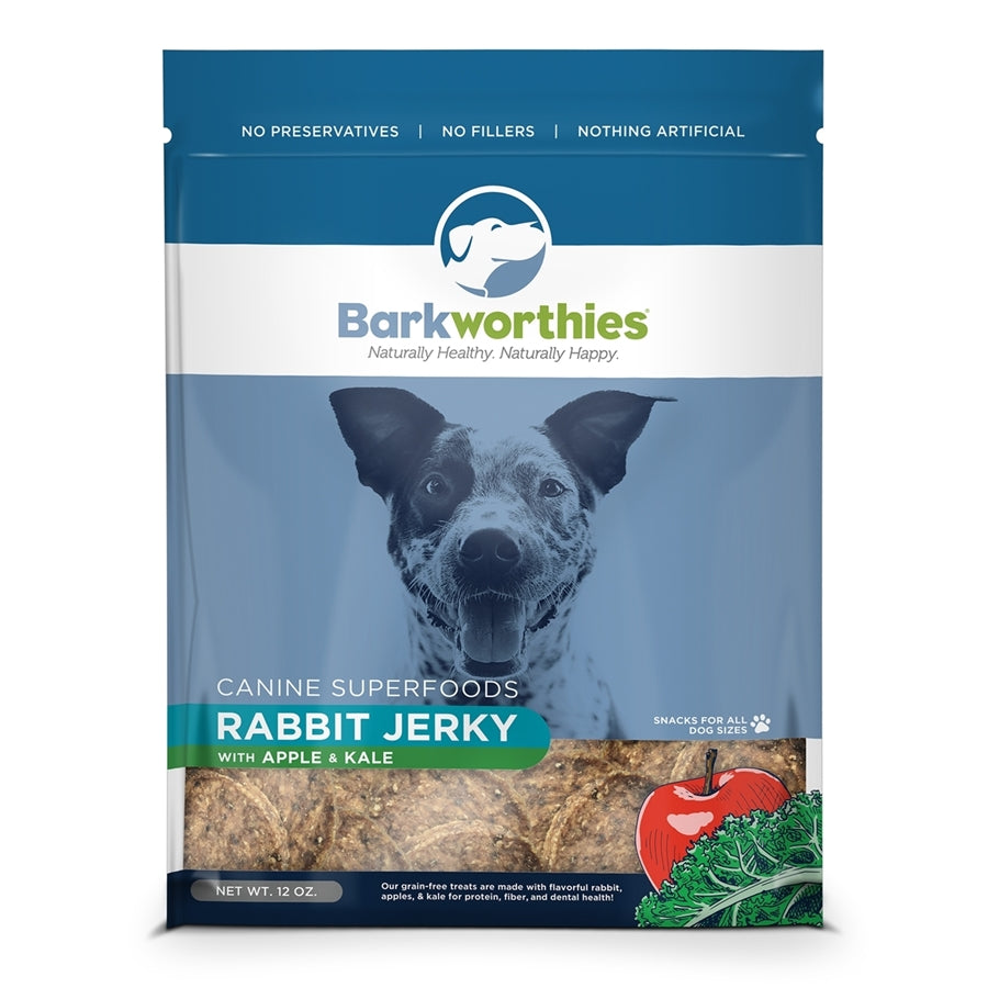 Barkworthies All Natural Rabbit with Apple & Kale Jerky Dog Treat - 12 oz.