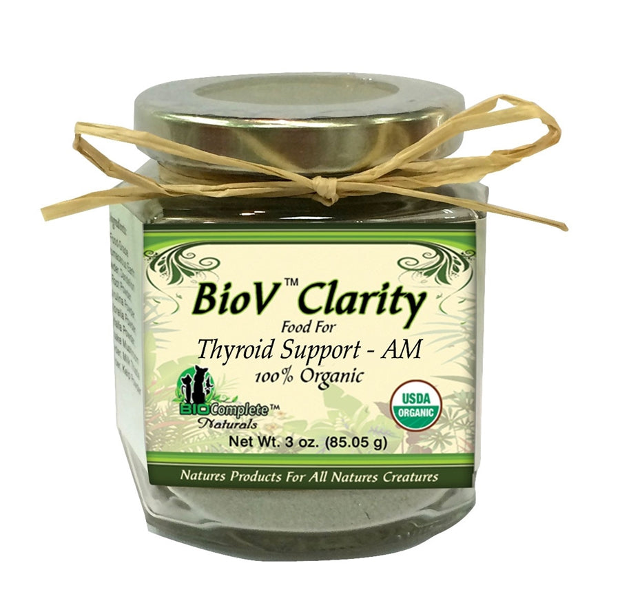 BioV Clarity Food for Thyroid Support AM 100% Organic Supplement for Dogs - 3 oz.