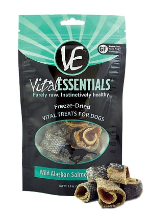 Vital Essentials Freeze Dried Raw Wild Alaskan Salmon Rings Dog Treat - 2.0 oz.