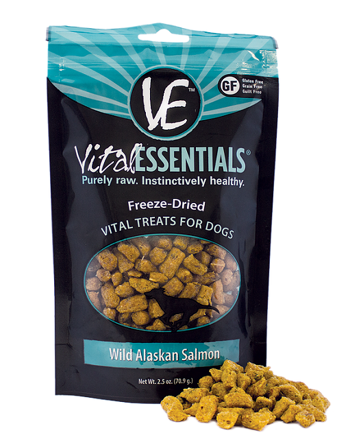 Vital Essentials Freeze Dried Raw Wild Alaskan Salmon Dog Treat - 2.5 oz.