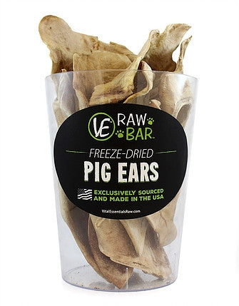 Vital Essentials Freeze Dried Raw Pig Ears Dog Treat -  1 pc.