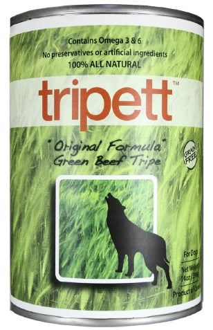 Tripett Original Formula Green Beef Tripe for Dogs - 13 oz.