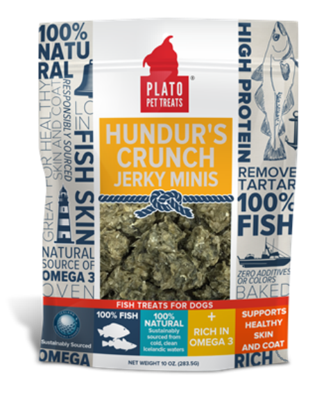 PLATO Hundur's Crunch Jerky Minis Dog Treats