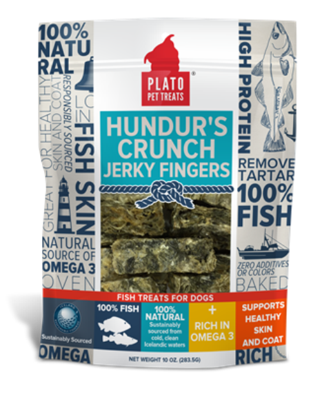 PLATO Hundur's Crunch Jerky Fingers Dog Treats