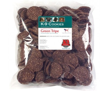 K-9 Kravings Green Tripe Cookies Dog Treats - 8 oz.