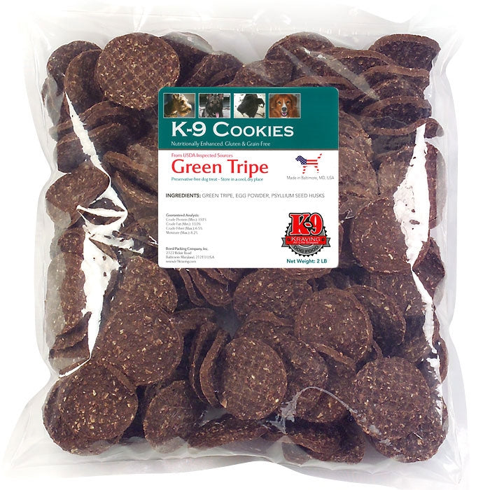 K-9 Kravings Naturals Green Tripe Chips Dog Treats - 5 oz.