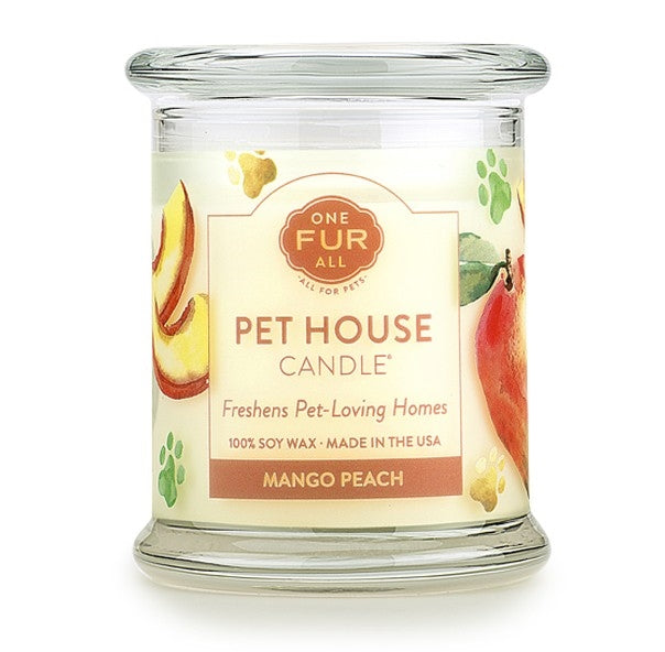 ONE FUR ALL PET HOUSE CANDLE - MANGO PEACH