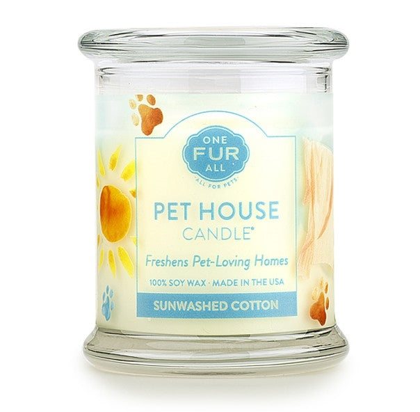 ONE FUR ALL PET HOUSE CANDLE - SUNWASHED COTTON