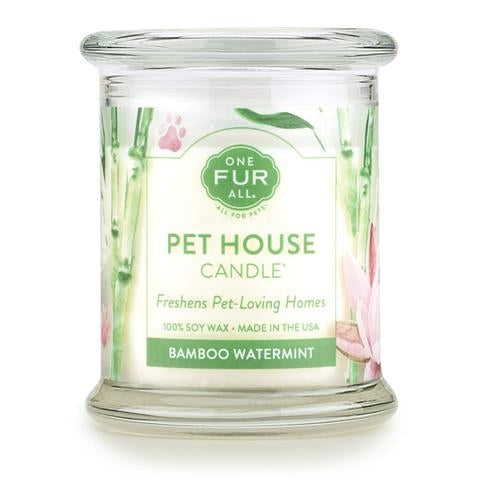 ONE FUR ALL PET HOUSE CANDLE - BAMBOO WATERMINT