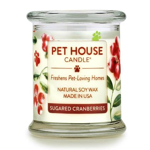 ONE FUR ALL PET HOUSE CANDLE - SUGARED CRANBERRIES