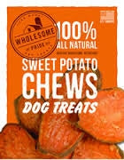 Wholesome Pride Sweet Potato Dog Chew Treats - 8 oz