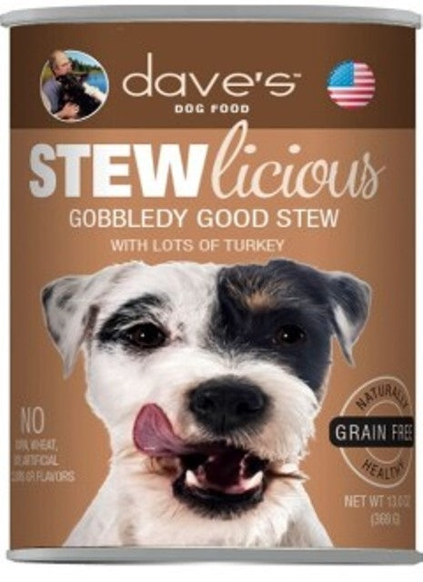 Dave's Dog Food STEWlicious Gobbledy Good Stew - 13.2 oz.