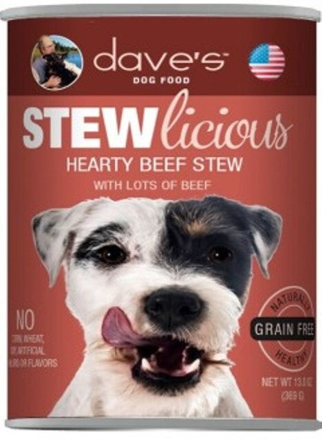 Dave's Dog Food STEWlicious Hearty Beef Stew - 13 oz.