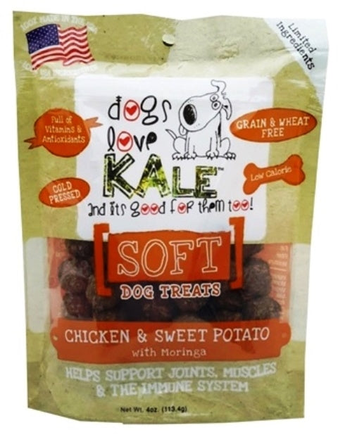 Dogs Love Kale Chicken & Sweet Potato Soft Dog Treats - 4 oz.