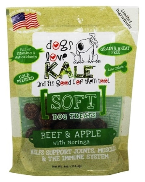 Dogs Love Kale Beef & Apple Soft Dog Treats - 4 oz.