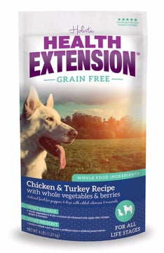 Health Extension Grain Free Chicken & Turkey Recipe Dry Dog Food