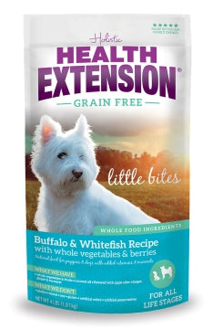 Health Extension Grain Free Buffalo & Whitefish Little Bites Recipe Dry Dog Food