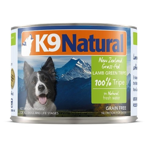K9 Natural New Zealand Grass Fed Lamb Green Tripe for Dogs - 6 oz