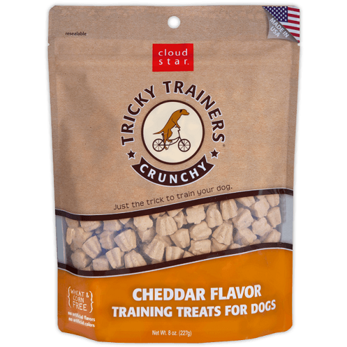 Cloud Star Tricky Trainers Cheddar Flavor Training Treats for Dogs - 8 oz.